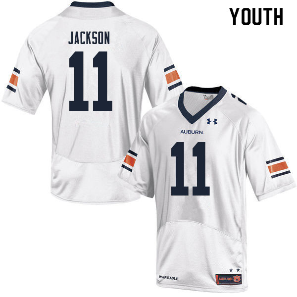 Youth #11 Shedrick Jackson Auburn Tigers College Football Jerseys Sale-White
